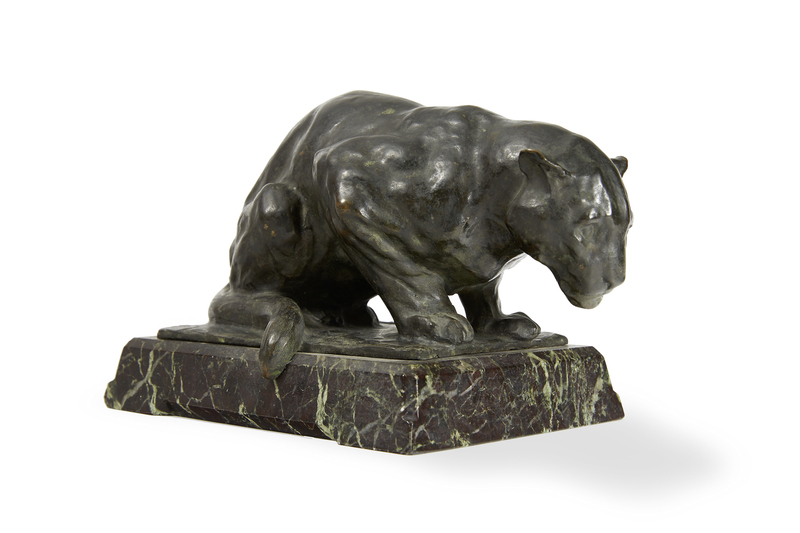 Rembrandt BUGATTI - Sculpture-Volume - Jaguar accroupi