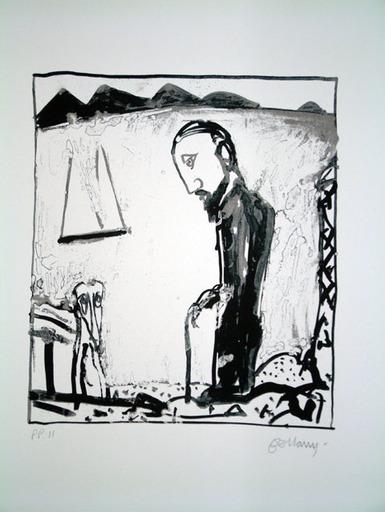 John BELLANY - Druckgrafik-Multiple - The Wanderer 5 - Walking Stick
