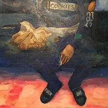 Robert DRAGOT - Painting - Vendeur de drogue - (GO West)  Series