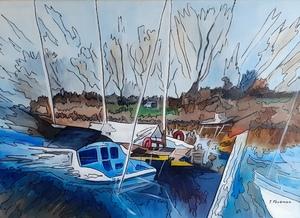 Joël FOUGMAN - Painting - Canal à Marrant