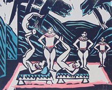 赫尔曼•马克斯•帕克斯坦 - 版画 - Acrobats III (Vaudeville Scene)