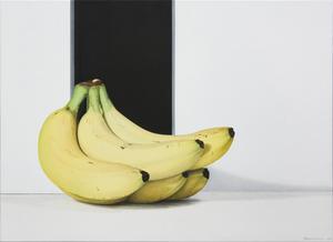 "Nataliya BAGATSKAYA - Pintura - hyperrealistic food painting ""Just Bananas..."" fruits"