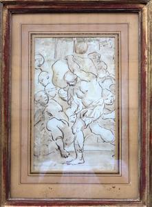 Luca CAMBIASO - Dibujo Acuarela