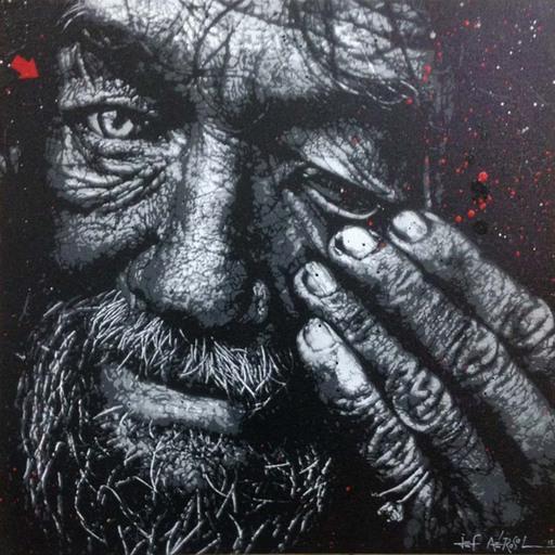 JEF AÉROSOL - Painting - sans titre #1