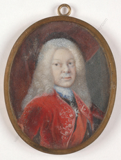 "Antoine PESNE (Attrib.) - Miniature - ""Crown Prince Friedrich Ludwig of Wuerttemberg"", important m"