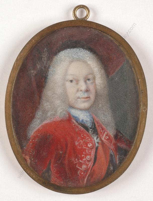 "Miniatur - ""Crown Prince Friedrich Ludwig of Wuerttemberg"", important m"