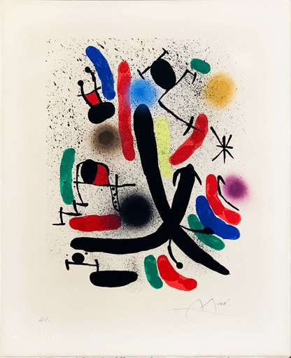 Joan MIRO - Estampe-Multiple - Lithographie I plate 1
