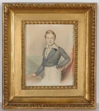 "Anton EINSLE - Drawing-Watercolor -  ""Archduke Alexander Leopold"", 1836/37, Watercolor"
