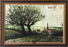 Bernard BUFFET - Peinture - Environ des Ponts - Neuf Bretagne