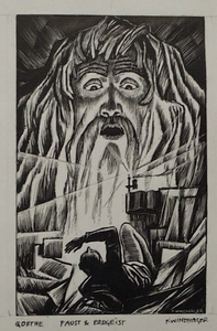 """Franz WINDHAGER - 水彩作品 - """"Illustration to Goethe's Faust"""" by Franz Windhager, ca 1925"""