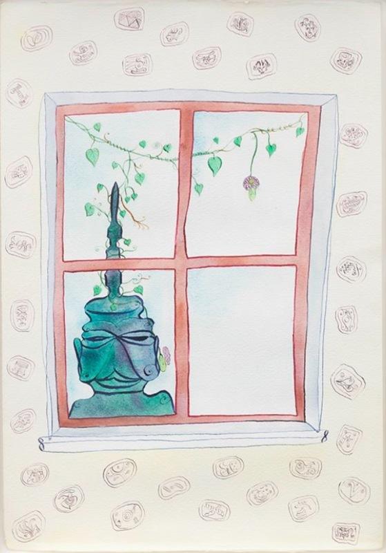Luigi ONTANI - Zeichnung Aquarell - the vengeance at window