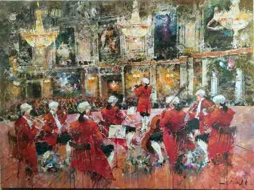 Josep COSTA VILA - 绘画 - Opera de Vienne