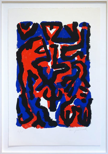 A.R. PENCK - Estampe-Multiple - Tanz mit dem Löwen - Dance with the Lion