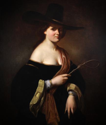 "Guillaume VAN BOMBERGHEN - Pintura - portrait "" lady with hat """