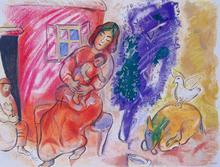 Marc CHAGALL (1887-1985) - Motherhood   Maternité