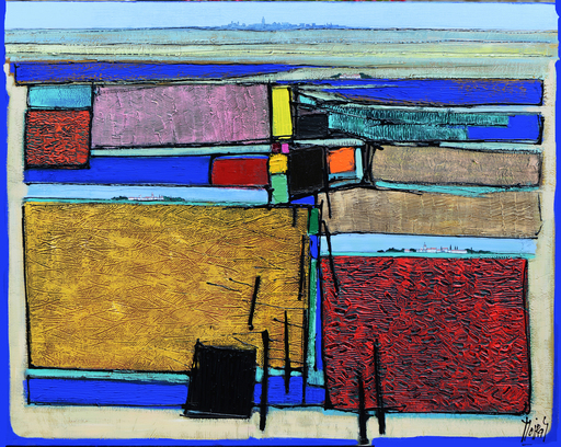 Jean MOIRAS - Painting - La lagune