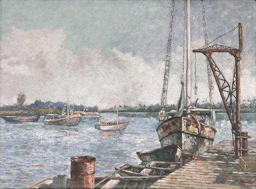 Tiburcio LORENZO SANCHEZ - Peinture - Puerto de Mar