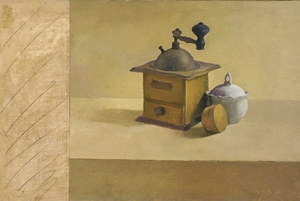 Raffi BADER - Painting - Still life with Coffee Machine