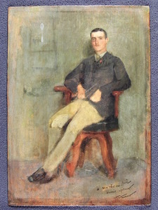 William Tom WARRENER - Pintura - Portrait of General Istvan Horthy, Brother of Miklos Horthy