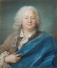 Hubert DROUAIS - Drawing-Watercolor - Portrait en buste d'Etienne Letexier de Mennetou (1670-1735)