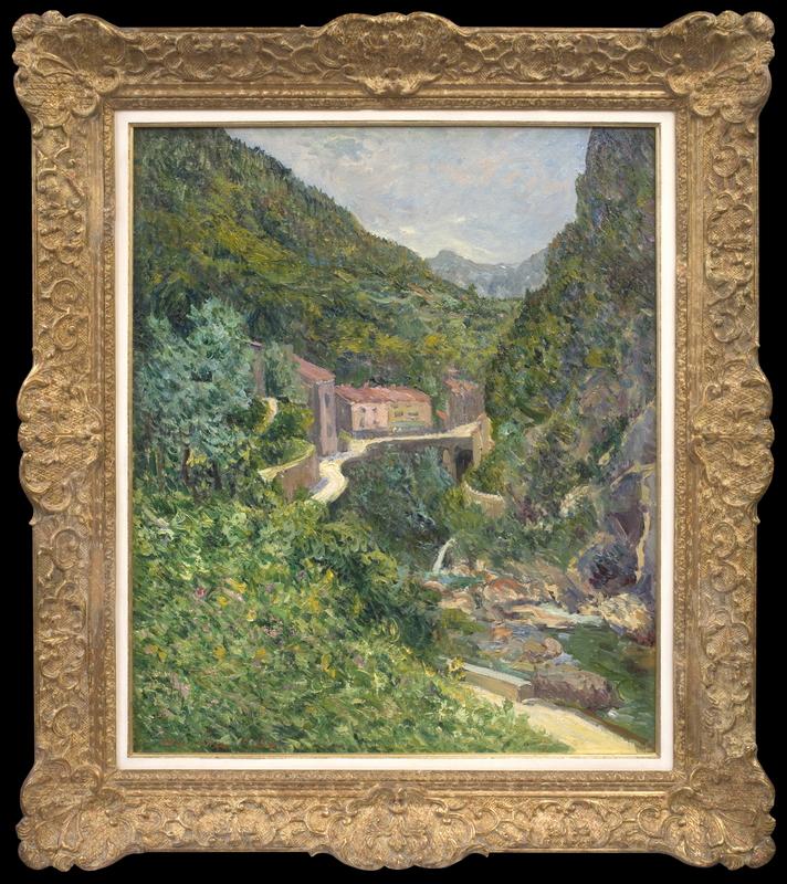 Maxime MAUFRA - Painting - La Gorge, Pont-en-Royans (Isère)