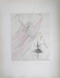 Salvador DALI - Estampe-Multiple - Terpsichore (muse of choral song and dance)
