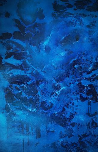 Elodie DOLLAT - Painting - Intensément bleu
