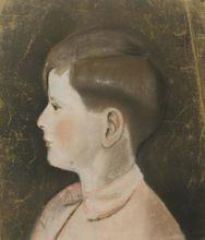 Richard GEIGER - Dibujo Acuarela - Boy from Prifile
