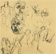 Mario SIRONI - Drawing-Watercolor - Figure