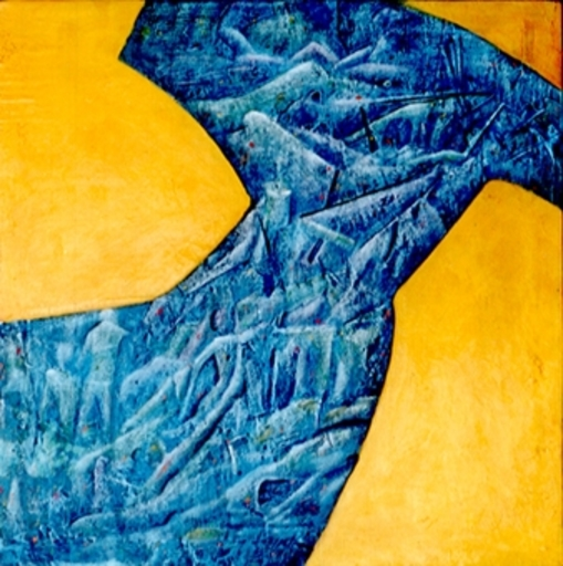 "Jean-Luc TURLURE - Painting - ""La robe bleue"""