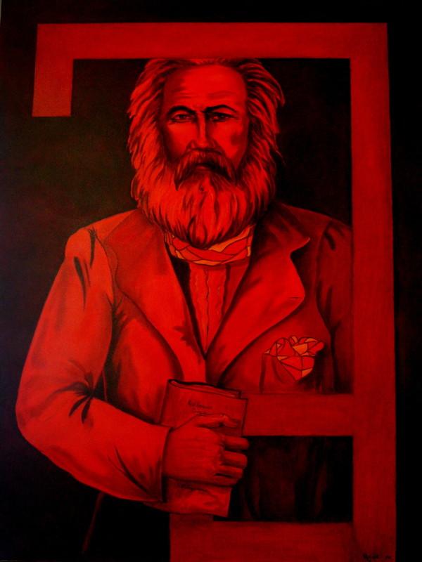 Rafael DE TOURS - Peinture - Karlequin Version 2 : Karl Marx