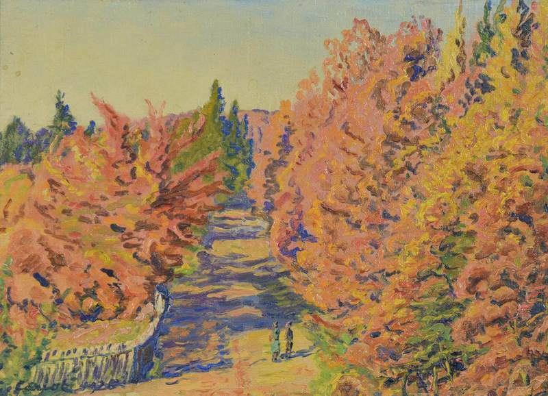 Gustave CARIOT - Painting - Lisière de Forêt (Georgenborn, Wiesbaden)