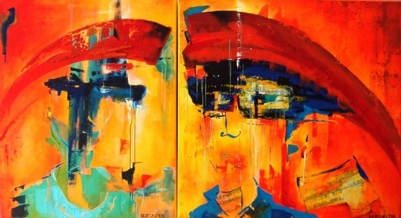 Ursula ULESKI - Peinture - Humain, trop humain : révélation
