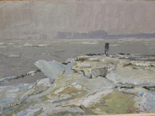 Cornelius WAGNER - Pintura - Vereiste Kribbe, Kaiserswerth / Düsseldorf