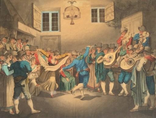 Bartolomeo PINELLI - Drawing-Watercolor - Saltarelle