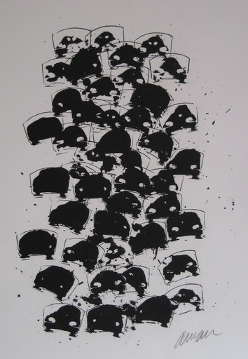 Fernandez ARMAN - Stampa Multiplo - LITHOGRAPHIE 1979 SIGNÉE AU CRAYON HANDSIGNED LITHOGRAPH