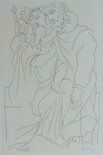 Pablo PICASSO (1881-1973) - Couple and Child, from: Lysistrata | Couple et Enfant, from: