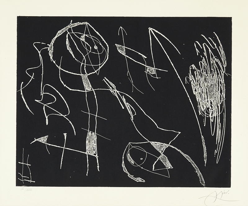 Joan MIRO - Print-Multiple -  Serie Mallorca - Negro y blanco I