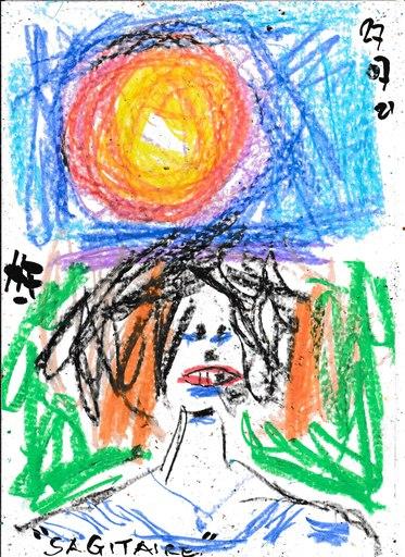 Harry BARTLETT FENNEY - Drawing-Watercolor - a delightful sagittarius 3 (27 07 21)