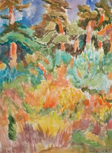 Willy EISENSCHITZ - Drawing-Watercolor - Ile du Levant
