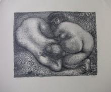 Aristide MAILLOL - Grabado - Deux femmes dans l'herbe