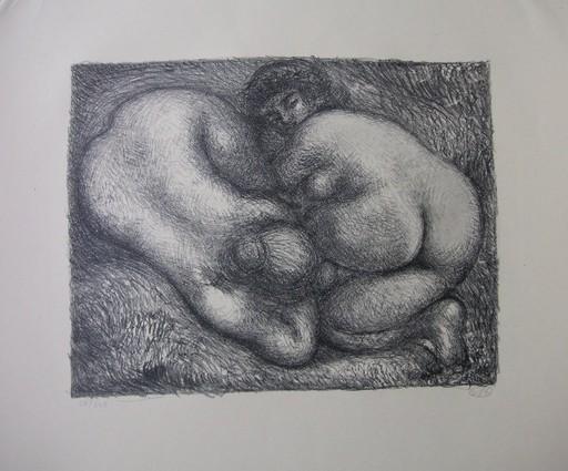 Aristide MAILLOL - Druckgrafik-Multiple - Deux femmes dans l'herbe