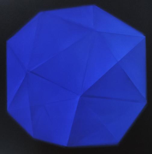 Alain-Jacques LEVRIER MUSSAT - Painting - Etude de rhombodobécaèdrés
