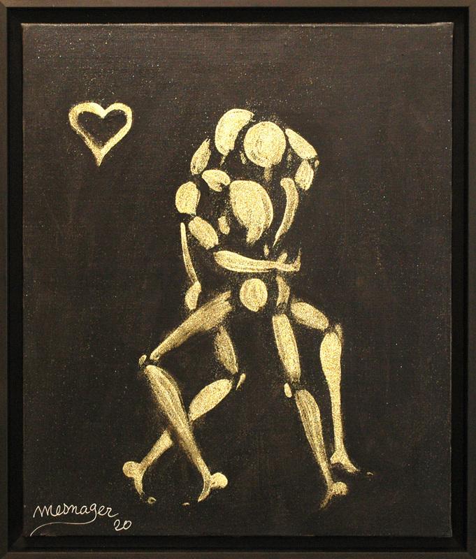 Jérôme MESNAGER - Painting - Danse Des Amoureux (Ref 178)