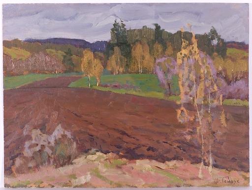 """Victor GAIDUK - Peinture - """"Autumn"""", Oil Painting, 1960s/1970s"""