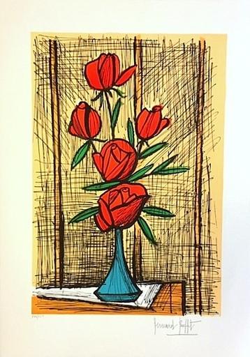 Bernard BUFFET - Stampa-Multiplo - Les cinq roses