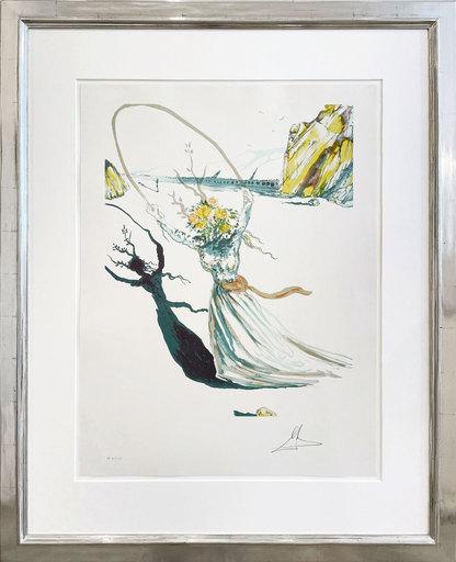 萨尔瓦多·达利 - 版画 - ranscendent Passage (Daphne I, Alice in Wonderland)