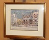 Jean LEYSSENNE - Drawing-Watercolor - La place Saint-Marc