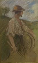 Léon Augustin LHERMITTE - Drawing-Watercolor - Farmer