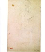 Edgar DEGAS - Disegno Acquarello - Portrait d'Eugéne Manet